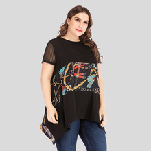 MILLYN 2019 Women Lace Patchwork Blouse Shirt Casual Tops Sexy Short Sleeve Blouse Ladies Summer Blouse Top