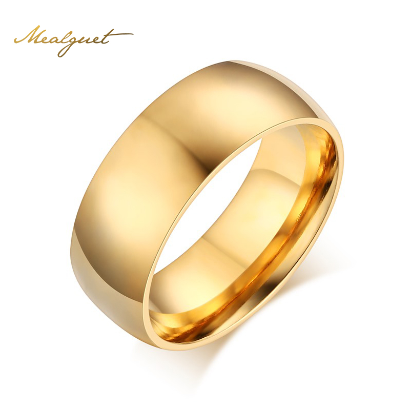 Aliexpress.com : Buy Meaeguet Simple Gold Color Ring ...