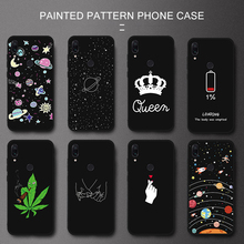 TPU Patterned Case Silicone Couple Cover For Xiaomi Redmi 7 Note 7 5 6 8 Pro 6A 5 Plus 5A S2 Pocophone F1 Shell Coque Phone Case