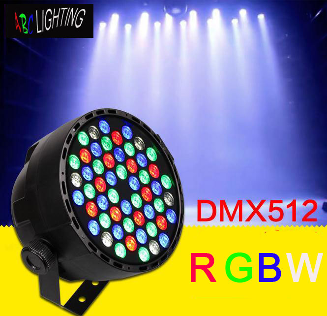 Led Wall Dj Light: 54pcs 1W RGBW LED PAR Light Wall Washer DMX Stage Lighting