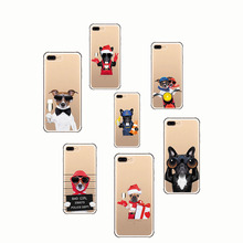 Soft silica gel shell Animal Cute Pug Dog Pattern Design Silicon Phone Cases Cover for SE IPhone 6 6S  5S X 7 8 Plus XS