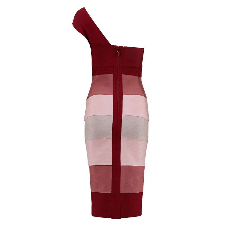 Seamyla New Women Bandage Dresses Vestidos 2019 One Shoulder Sexy Bodycon Evening Party Dress Elegant Bodycon Summer Club Dress in Dresses from Women 39 s Clothing