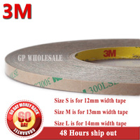 1x 12mm Or 13mm 14mm 55M High Bond 3M 300LSE Transparent Acrylic Glue Sticky Tape Phone