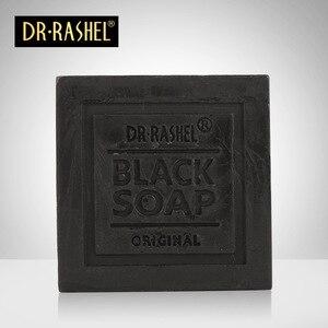 Image 3 - 2 pcs Collagen Charcoal Black Soap Face Cleanser Blackhead Remover Whitening Tighten Pore Acne Oil Control DR RASHEL 100g