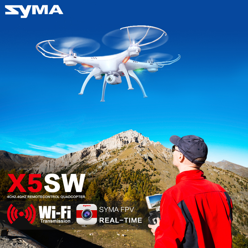 SYMA FPV X5SW Quadcopter With Camera Drone Wifi Real Time Headless Dron/X5HW RC Helicopter Quadrocopter Kids Toys original syma drone with camera hd x5hw x5sw upgrade fpv 2 4g 4ch rc helicopter quadcopter dron quadrocopter toy