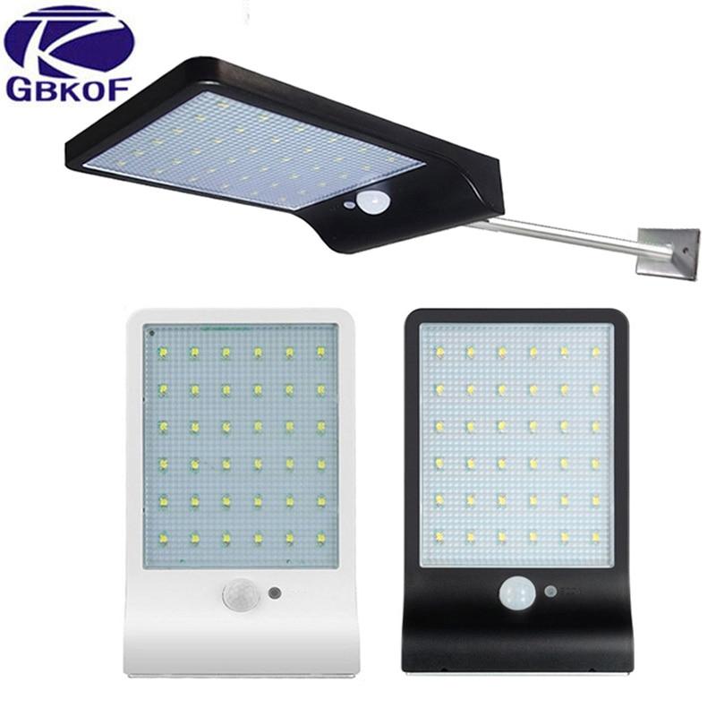36 Leds LED Solar Light Power Street Light Three Modes Motion Sensor Waterproof Wall Lamp Lights For Outdoor Garden Wall Street