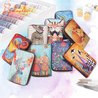 Zongshu Vintage Classical Genuine Leather Woman Card Holders Antique Cartoon Animal Girls Name Card Cover ID