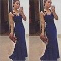 2015 новый сексуальный кружева с макси женщин Vestidos элегантные вечерние ну вечеринку платья без рукавов сексуальные глубокие долго женщины летнее платье