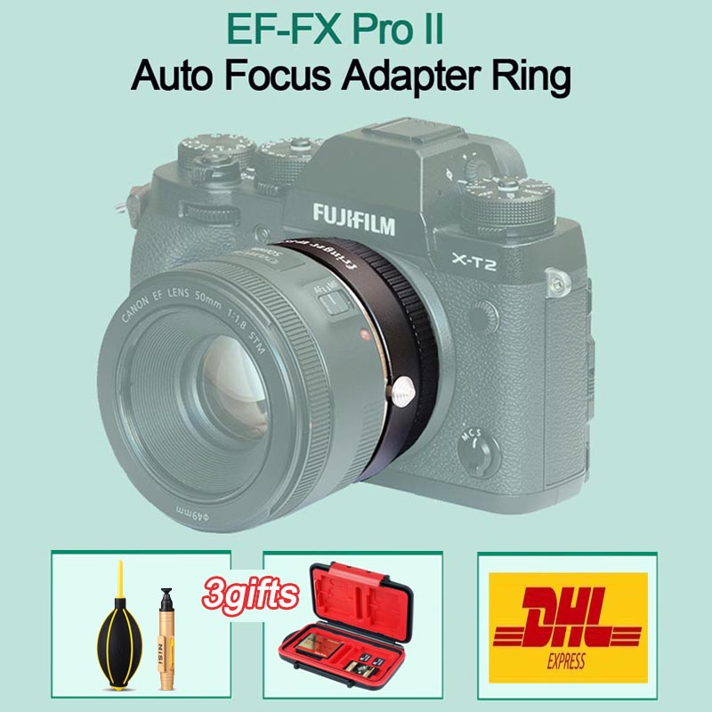 Fringer EF-FX PRO II Auto Focus Adapter To Fujifilm Mount For Canon EF Lens Compatible FOR Fujifilm X-E EF-FX2 PRO X-H X-T X-PRO