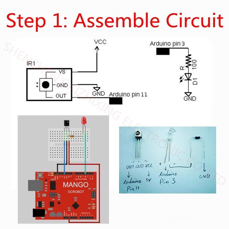 Infrared IR Wireless Remote Controller Module Kits DIY Kit HX1838 for Arduino Raspberry Pi