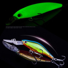Купить с кэшбэком Luminous Fishing Lures 3D Eyes Floating Laser Minnow Hard Aritificial Wobblers Crankbait Plastic Baits Pesca Isca 9cm 7.3g