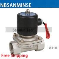 NBSANMINSE Нержавеющаясталь прямого действия мембранного электромагнитный клапан площадь катушки электромагнитный клапан 2WB 8