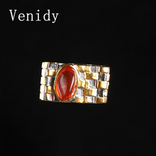 Venidy New Square Natural Opal Ring Resizable 925 Sterling Silver Jewelry Vintage Wedding Rings For Women Birthday Stone Gifts