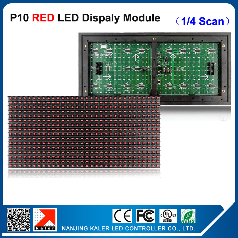 TEEHO Red Scrolling LED Panel Display 32*16Pixels <font><b>Billboard</b></font> Advertising Message Board Programmable Led <font><b>Sign</b></font> Module Waterproof image