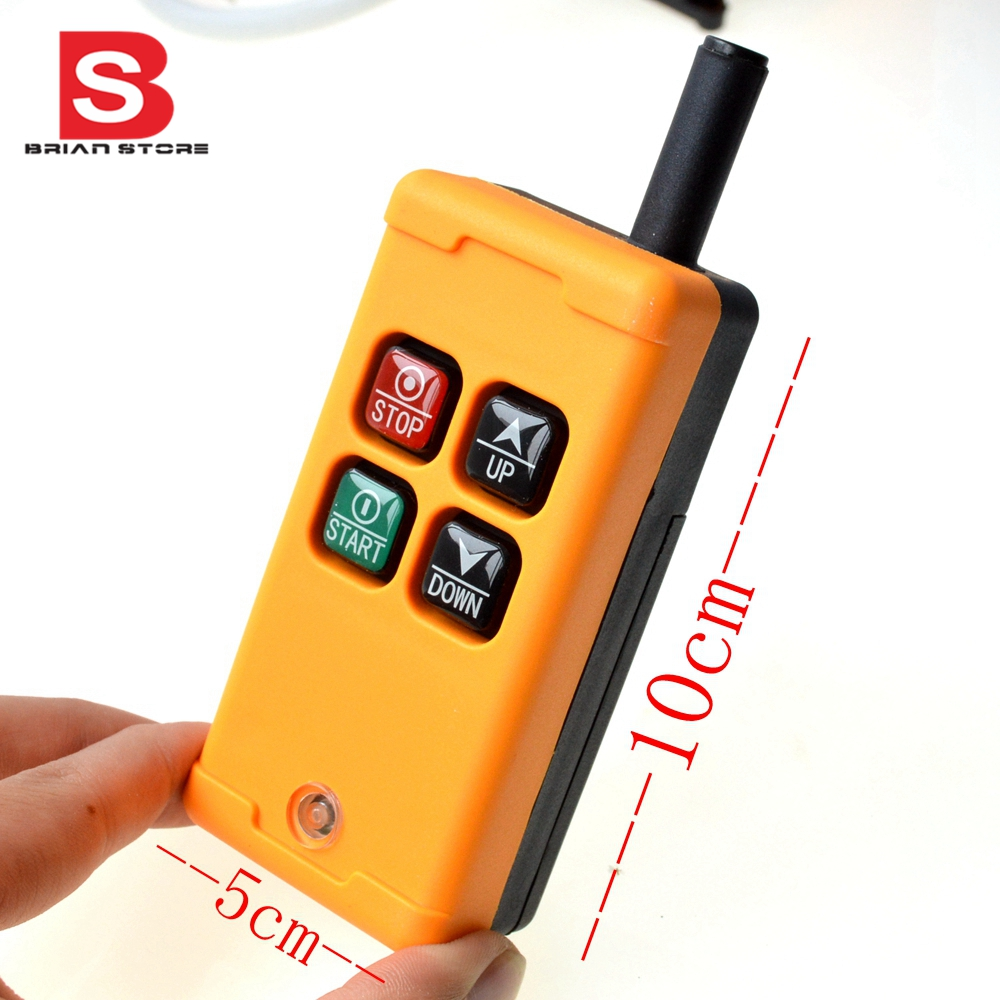 Image 3 - 1 Transmitter 4 Channels 1 Speed Control Hoist industrial wireless  Crane Radio Remote Control System OBOHOS-in Switches from Lights & Lighting