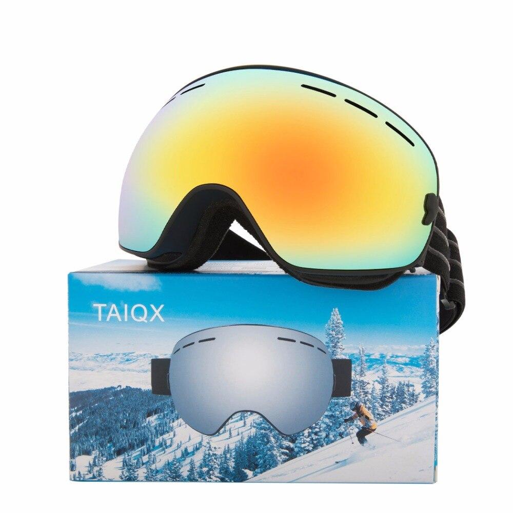 Lunettes de Ski Double Anti-buée nouvelles lunettes de Ski adultes Double lentille UV400 Anti-buée lunettes de Motocross masques de Ski ou lunettes BH505-1