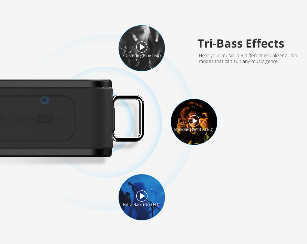 Tronsmart Element Force Bluetooth Speaker IPX7 Waterproof Portable Speaker 40W TWS Speakers 15H Playtime with Subwoofer,NFC 2