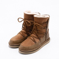 Winter Women's Ankle Snow Boots Thick Plush Warm Waterproof Boots Snow Ice Weather Ladies 34 39