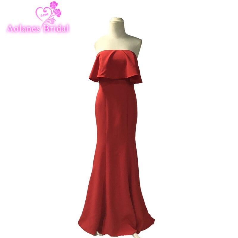 2018 Sweep Train Vestidos De Graduacion Women Evening Dress Cheap Long Prom Dresses Sexy Shawl Mermaid Red Prom Dresses