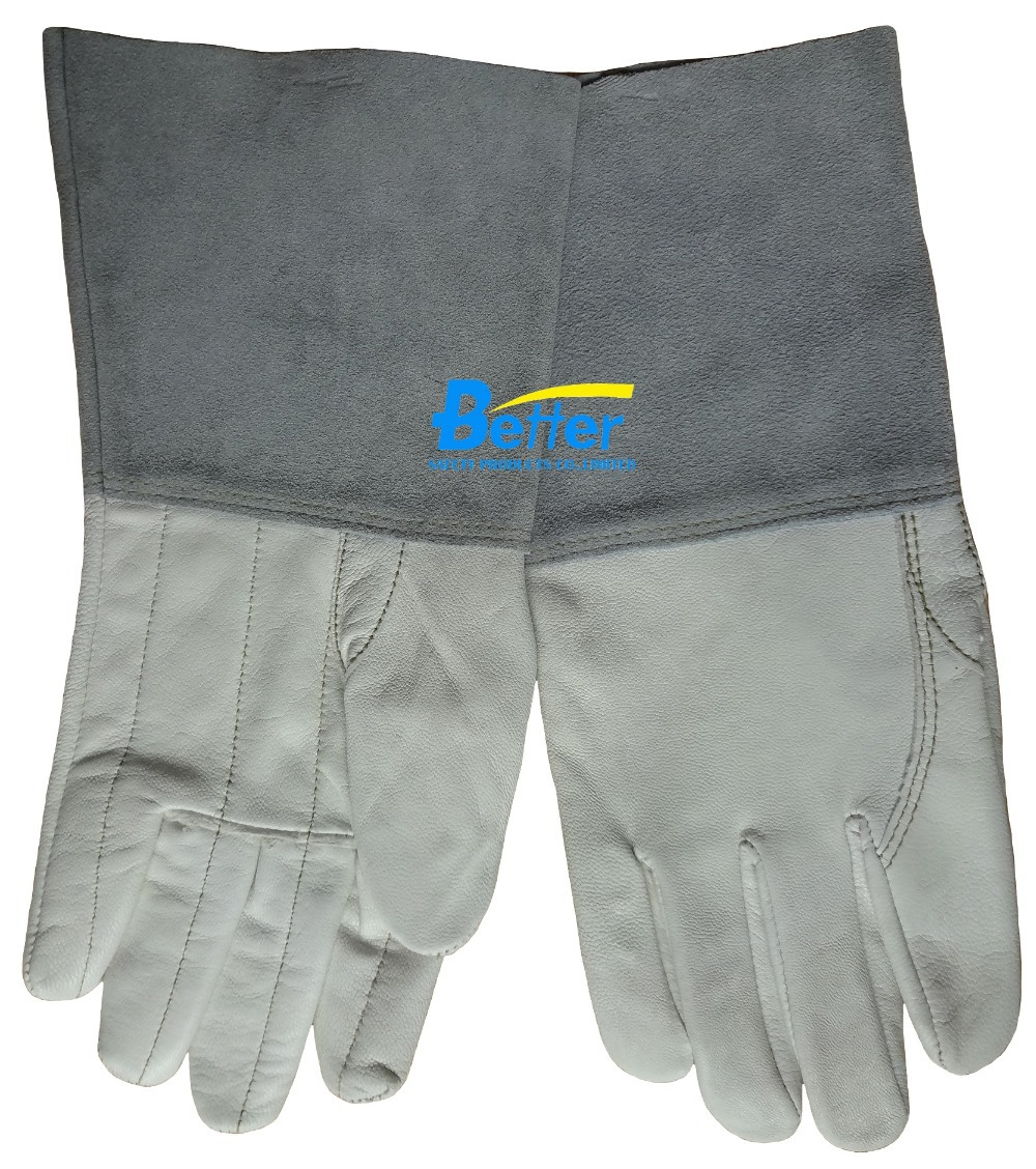 Leather Safety Glove TIG MIG Welding Gloves Leather Driver Glove Grain Goat Leather TIG MIG  Work Glove leather safety glove deluxe tig mig leather welding glove comfoflex leather driver work glove