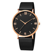 Fashion Luxury Men Quartz Watch Blue Mesh Belt Male Business Watch Waterproof Calendar Sport Wristwatch Brand BIDEN Watch Clock(China)