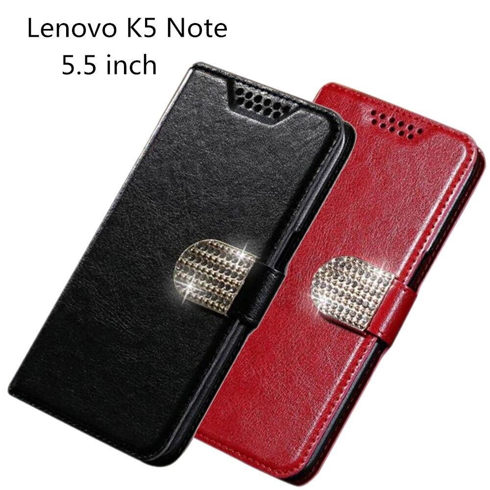 Lenovo K5 Note Case Wallet PU Leather Back Cover Phone Case For Lenovo Vibe K5 Note A7020 A7020a40 A7020a48 Flip Protective Case