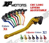 CNC Long Longy Adjustable Brake Clutch Levers For Kawasaki Versys 650 2009 2014 6 8 Inch