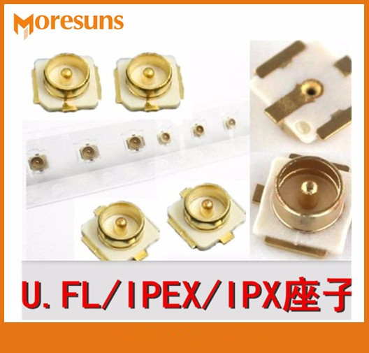 50pcs IPEX End Plate IPX 20279-001E For U.FL Joint SMT Connect PCB Connectors SMD IPX Male Socket MINI Card Antenna Pedestal
