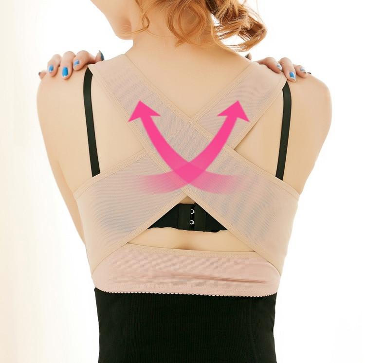 e1ba722a5f6e9 Women s Breast Back Shaper Beauty Stretch Back Good Posture X Corrective  Fat Burn Lifter Corset-in Bustiers   Corsets from Underwear   Sleepwears on  ...