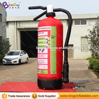 Customized logo 3m high inflatable Fire extinguisher model for event advertising inflatable toy