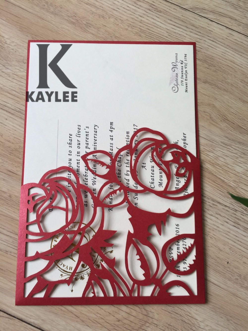 Laser Cut Wedding Invitations Cards Kit With Rope Card Stock for ...