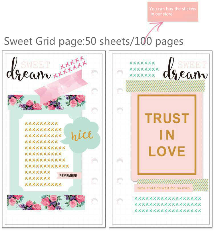 Dokibook Winter Series Creative Notebook Filler Paper For 2017 Personal Planner Cute Refill A5a6a7 School Girls Gifts Stationery ежедневник a life dokibook a6 a5personal8