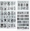 Nail Top 11 Opción de Diseño Floral Animal Nail Art Stamping Plantilla Plantillas de Uñas Polaco Arte Stampe