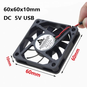 цена на Gdstime 1 Piece 60mmx60mmx10mm DC Brushless PC Cooling Fan 5V USB Connector 6010 60mm x 10mm 6cm Computer Heatsink Cooler