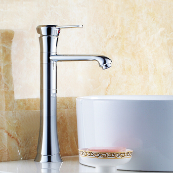 L16076 High Quality Chrome Finish Brass Material Counter Faucet