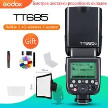 Godox TT685 TT685C TT685N TT685S TT685F TT685O TTL HSS kamera flaş Speedlite Canon Nikon Sony için Fuji Olympus kamera