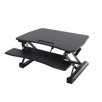 Standing Desk Converter Height Adjustable Stand Up Desk Dual Monitor Riser with Wide Keyboard Tray for Gaming and Office