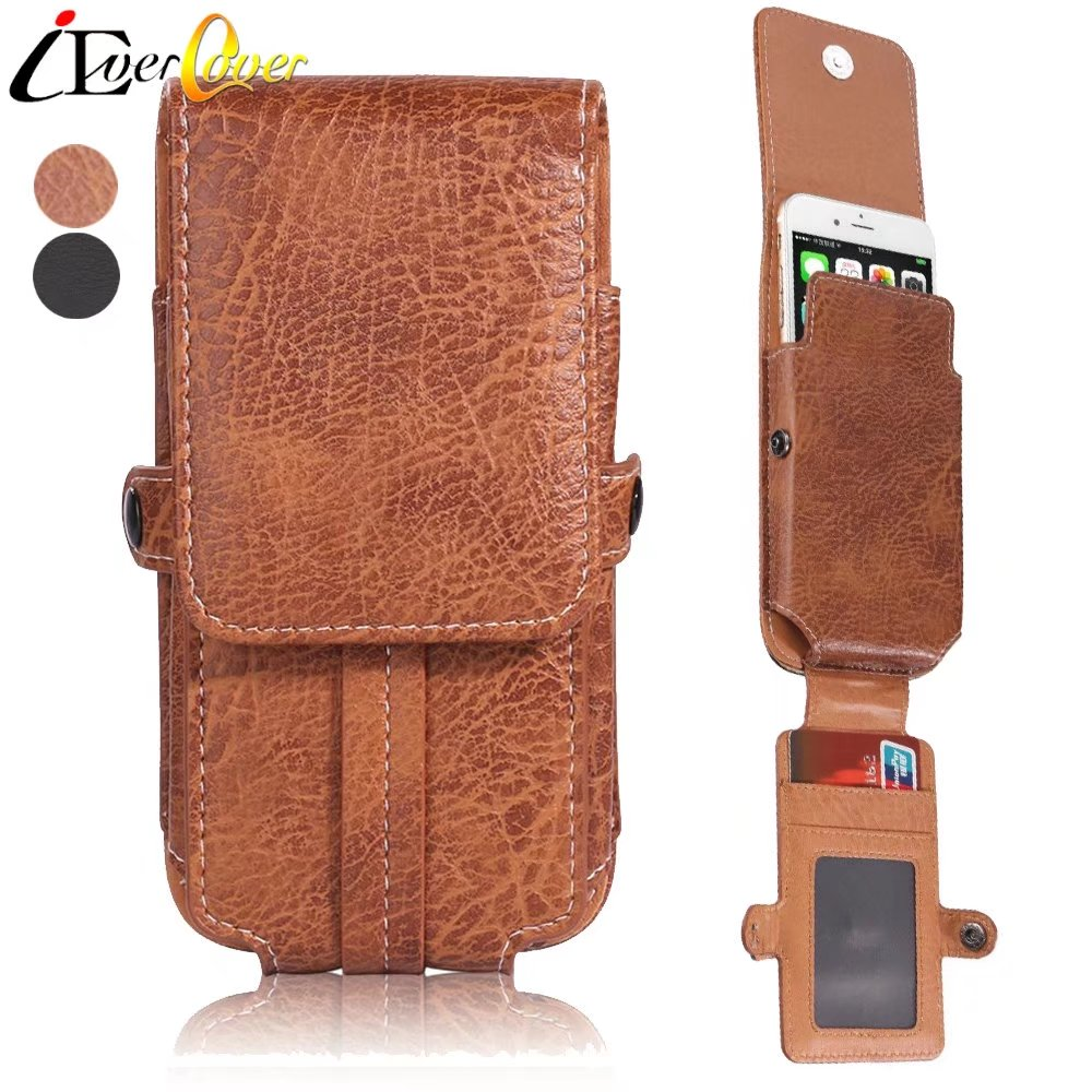 PU Leather Vertical Belt Clip Holster Pouch Case for Samsung Galaxy Note 9 8 S8 Plus S8+ A9, C9
