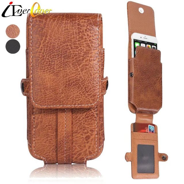 cheaper da4cb 92f30 US $10.62 24% OFF|PU Leather Vertical Belt Clip Holster Pouch Case for  Samsung Galaxy Note 9 8 S8 Plus S8+ A9, C9 Pro Phone Wallet Waist Bag  Cover-in ...