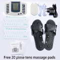 Hot!Health Care Electrical Muscle Body Stimulator Massageador Tens Acupuncture slippers Therapy Machine Slimming Body 20pcs pads