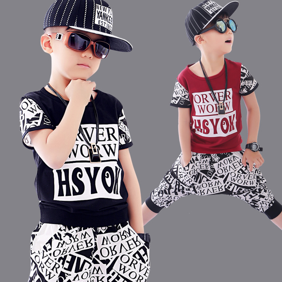Boy Hip Hop Clothing Sets Kids Baby Outfit Christmas Costumes For Boy Clothes Sets Girls Summer 2018 Clothes Children Sport Suit christmas kids clothing sets 100