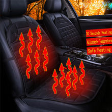 Car Seat Heater Cushion Warmer Cover Winter Heated Warm High Low Temperature 12V heated seat cover dropship d24(China)