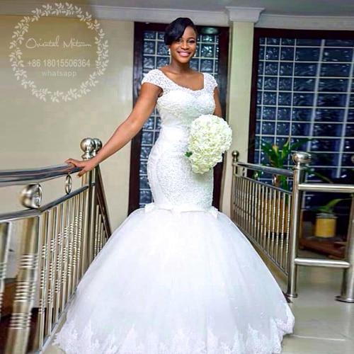 vintage designer wedding dresses mermaid heavy beaded african bride gowns plus size wedding dress 2017 vestidos