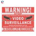 Instalações Projetadas Por Gravação de Vídeo De CFTV de Vigilância de Segurança Sinal Adesivo