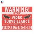 Instalaciones Previstas Por Video Vigilancia CCTV Grabación de Seguridad Signo Etiqueta