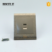 MK WS05022 Free Shipping MK WS05022 PC Household Universal Tel Wall Socket Wall Switch And Socket