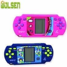 WOLSEN BILLIGER Tetris Ziegel Handheld Spiel Player Tasche Spielzeug Handliche konsole Ziegel Spiel Radio funktion großes geschenk für kind
