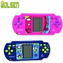 WOLSEN mando de juegos de ladrillos Tetris, consola manual de ladrillos, gran regalo para chico