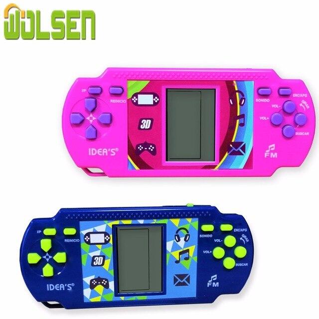Wolsen Goedkopere Tetris Brick Handheld Game Player Pocket Speelgoed Handige Console Baksteen Game Radio Functie Grote Gift Voor Kid