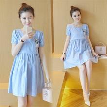 New Maternity Nursing Dress for Pregnant Women Clothing 2016 Summer Fashion Breastfeeding Skirt Pregnancy Clothes Lactation B57